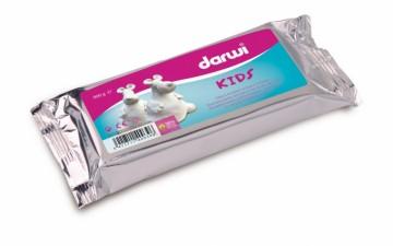 Samotvrdnoucí modelovací hmota Darwi Kids 900 g - bílá