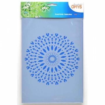 Plastová šablona 20 x 30 cm - Mandala 1