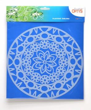 Plastová šablona 25 x 25 cm - Mandala 2