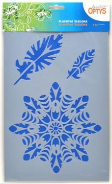 Plastová šablona 20 x 30 cm - Mandala 6
