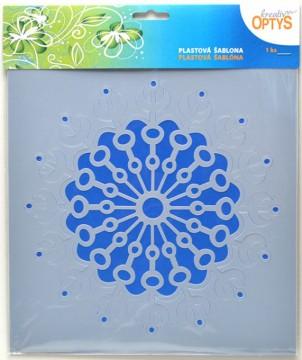 Plastová šablona 25 x 25 cm - Mandala 5