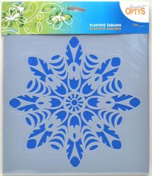 Plastová šablona 25 x 25 cm - Mandala 7