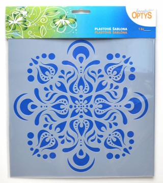 Plastová šablona 25 x 25 cm - Mandala 8