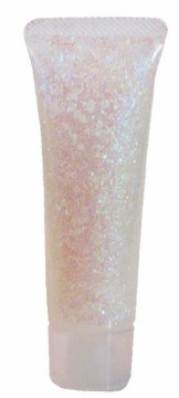 Třpytivý gel na obličej v tubě 18 ml - perleťová duhová