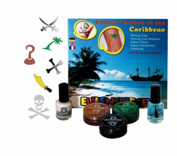 Tetovací třpytivá sada XL - Sada Karibik