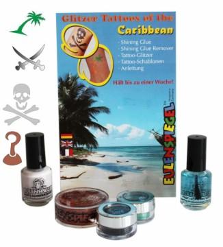 Tetovací třpytivá sada - Sada Karibik
