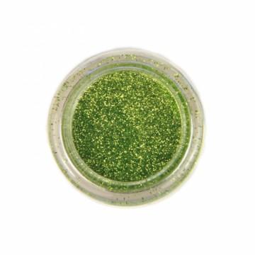 Jemné třpytky na tělo 10 ml - trávově zelené (04)