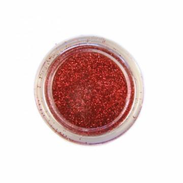Jemné třpytky na tělo 10 ml - červené (08)