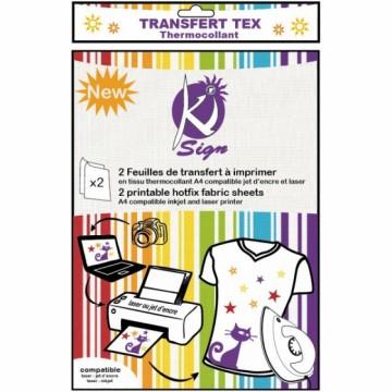 Transferový nažehlovací papír na textil A4 (2 ks)