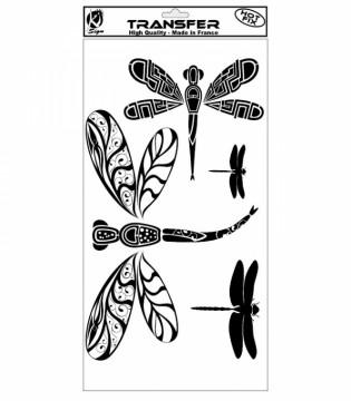 Nažehlovací obrázek - Vážky (černý)