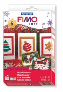 FIMO soft sada - Vánoční + vytlačovací forma