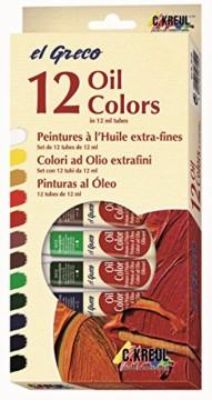 Sada olejových barev v tubách (12 ks)