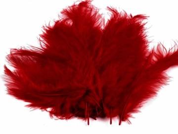 Barevná peříčka - červená tmavší