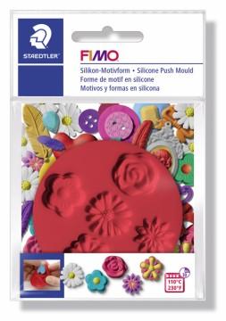 FIMO silikonová vytlačovací forma - Květiny