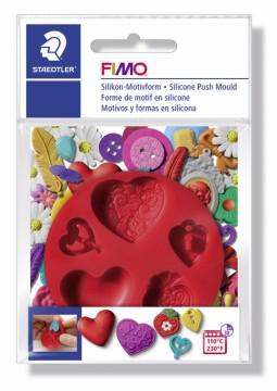 FIMO silikonová vytlačovací forma - Srdce