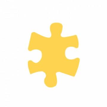 Ozdobná děrovačka - puzzle 3,7 cm